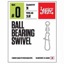 Вертлюги LUCKY JOHN c застеж. и подш. LJ Pro Series BALL BEARING SWIVEL 006 3шт.