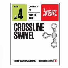 Вертлюги LUCKY JOHN трехстор. LJ Pro Series CROSSLINE SWIVEL 010 5 уп. по 10 шт