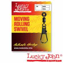 Вертлюги LUCKY JOHN c застежкой LH скольз. MOVING ROLLING AND INTERLOCK 00M 7шт.